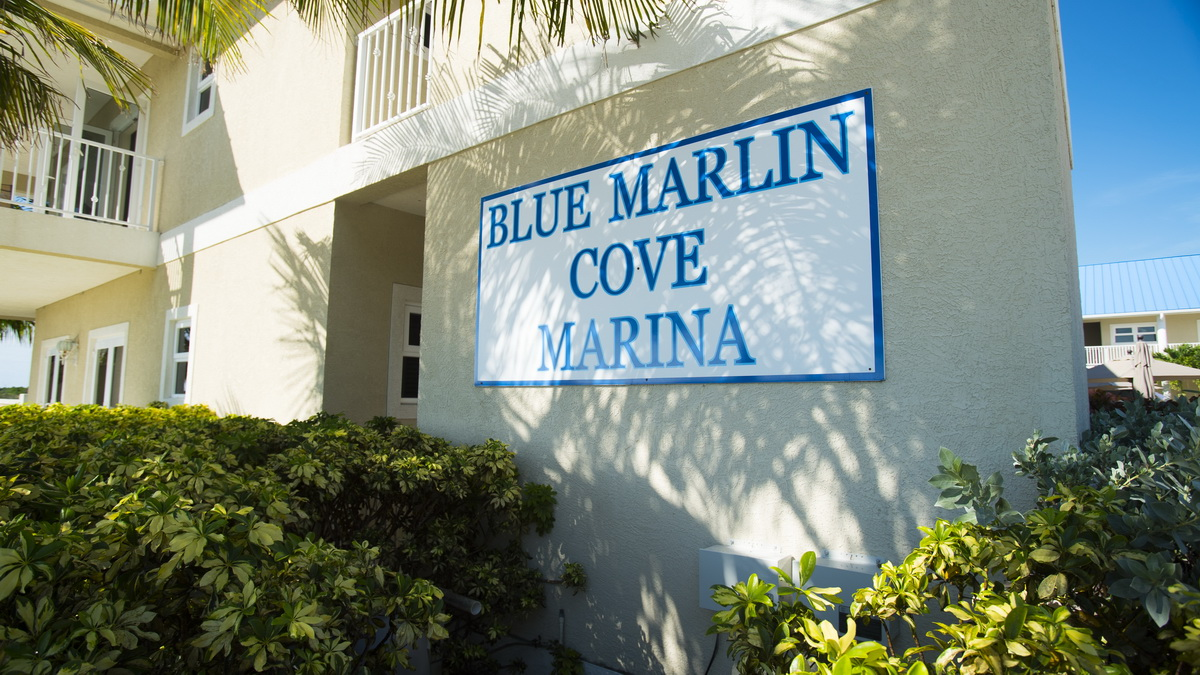 blue marlin cove sign