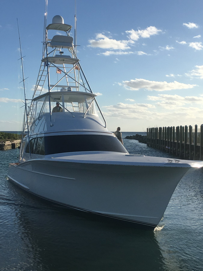 blue marlin cove boat close up